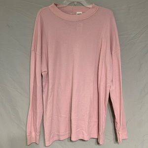 Victoria's Secret PINK Waffle Knit Long Sleeve Tee